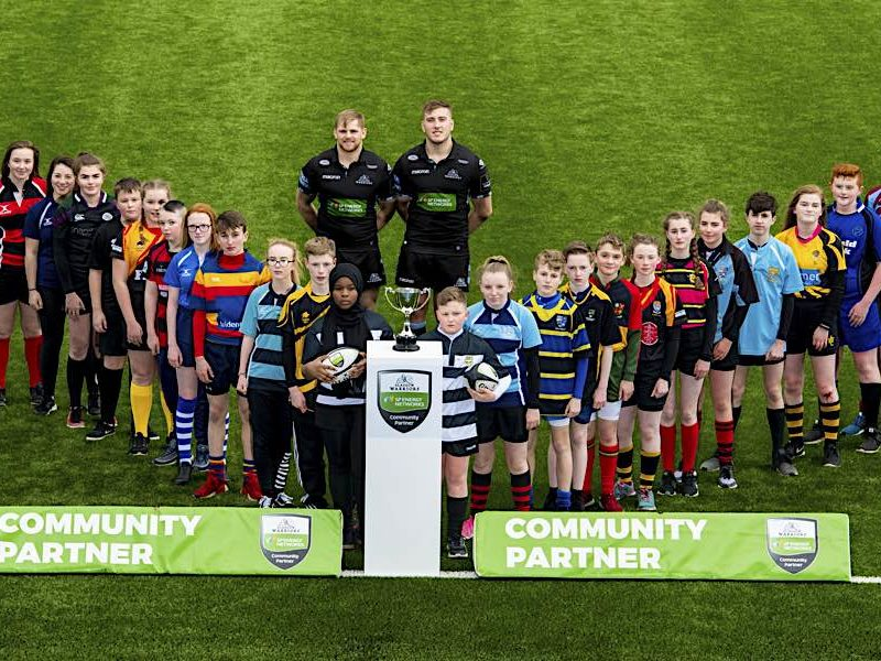 Glasgow Warriors' Pat MacArthur and Matt Fagerson join schools at the launch SP Energy Networks Warriors Championship