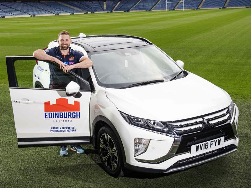 Mitsubishi Motors continue to support Edinburgh Rugby as John Barclay is pictured at BT Murrayfield.