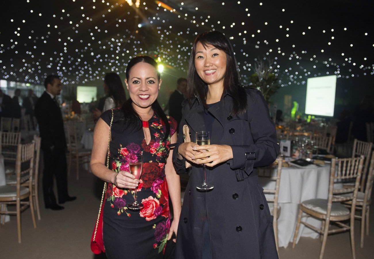 Two ladies attending the Randox annual polo weekend at The Gleneagles Hotel