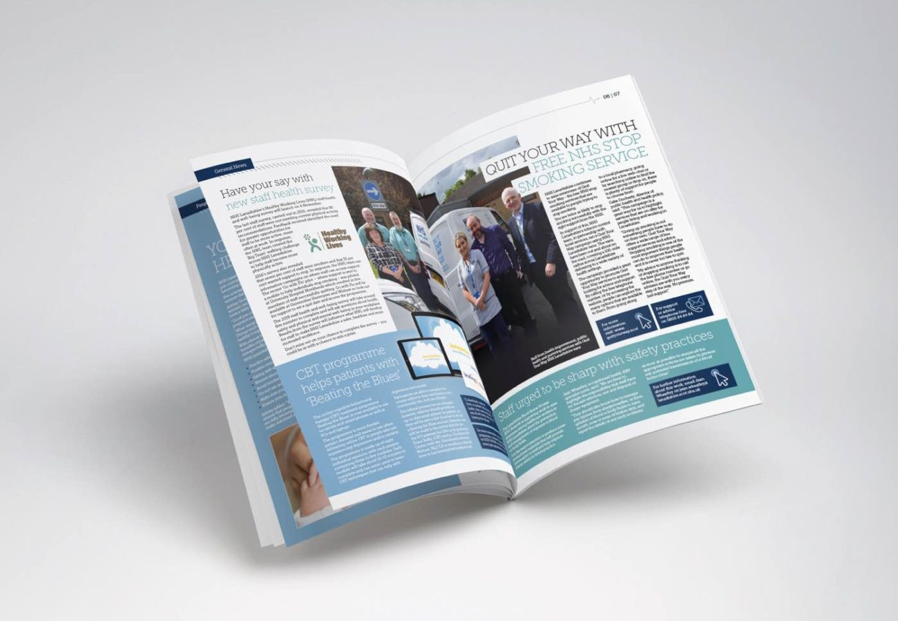 Booklet design for NHS Lanarkshire