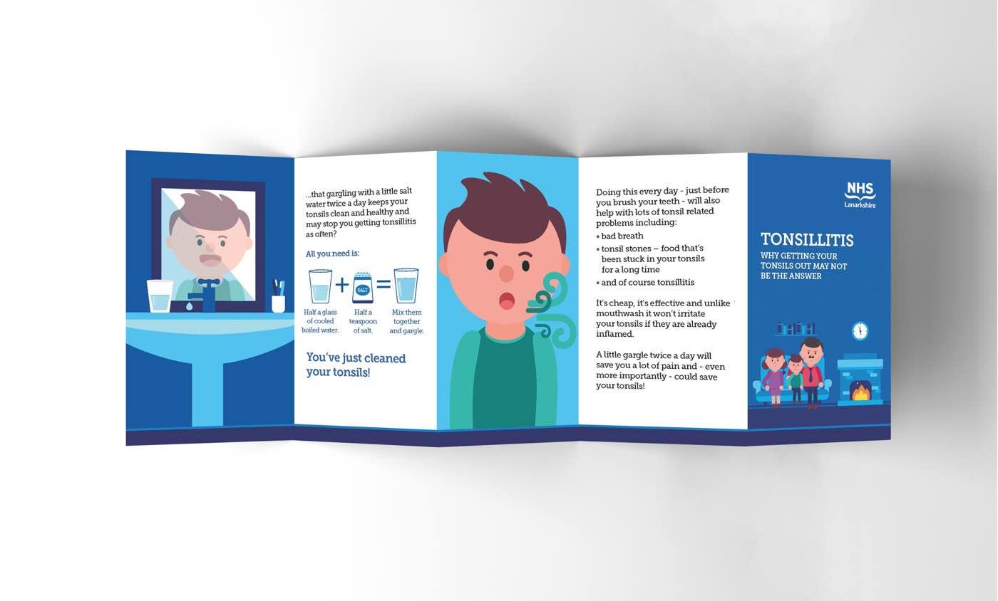 Fact leaflet for Tonsillitis for NHS Lanarkshire