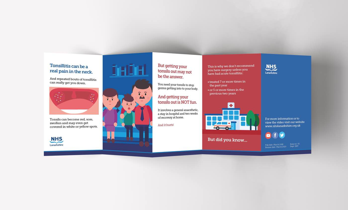 Fact leaflet for Tonsillitis for NHS Lanarkshire