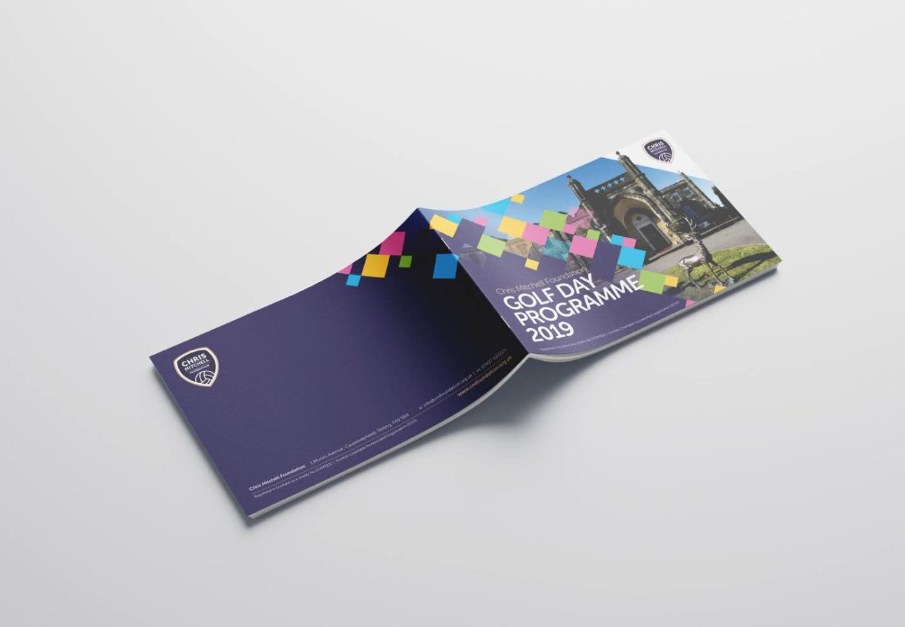 Brochure mock up design for the Chris Mitchell Foundation