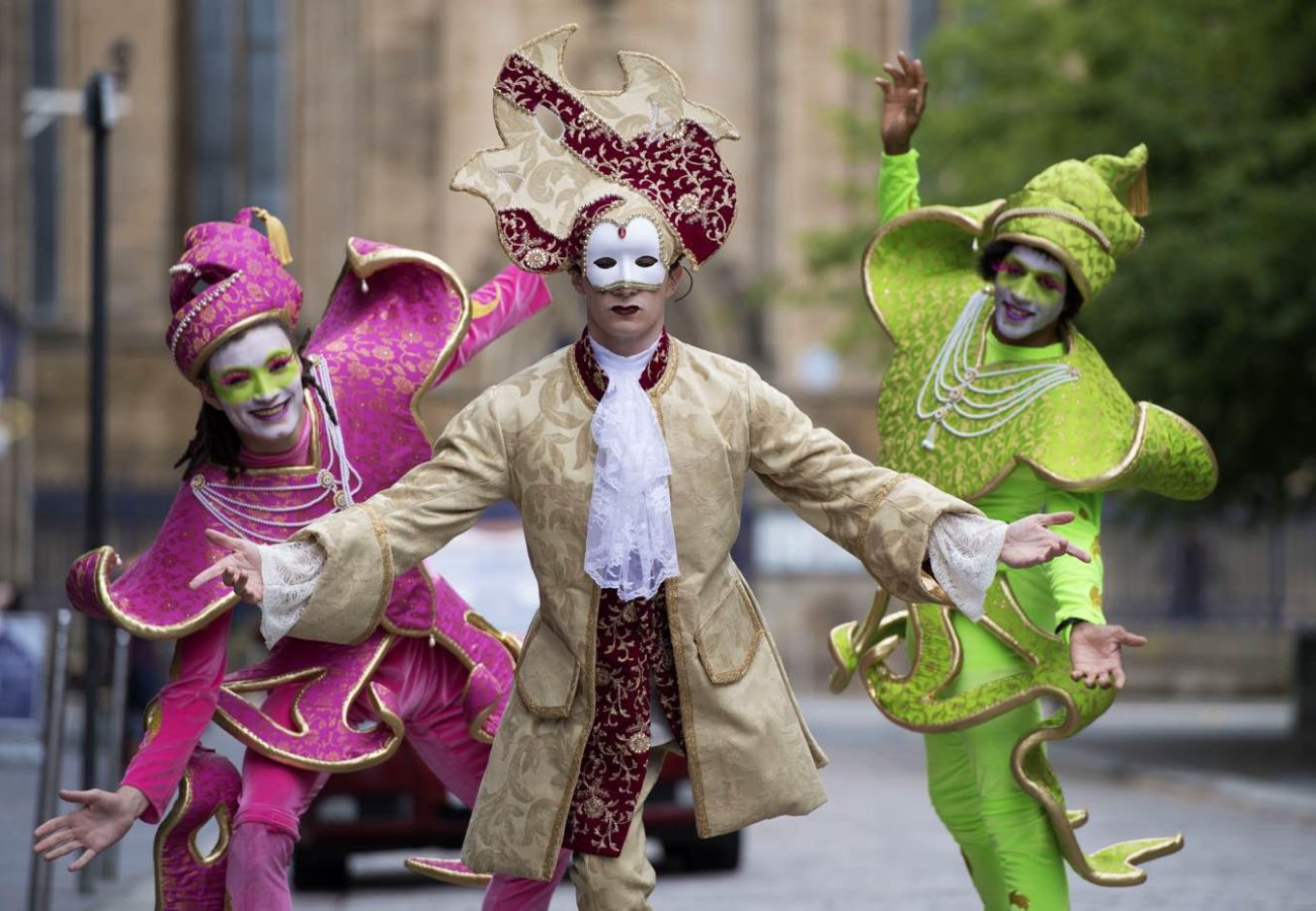 Performers at the Merchant City festival, Glasgow