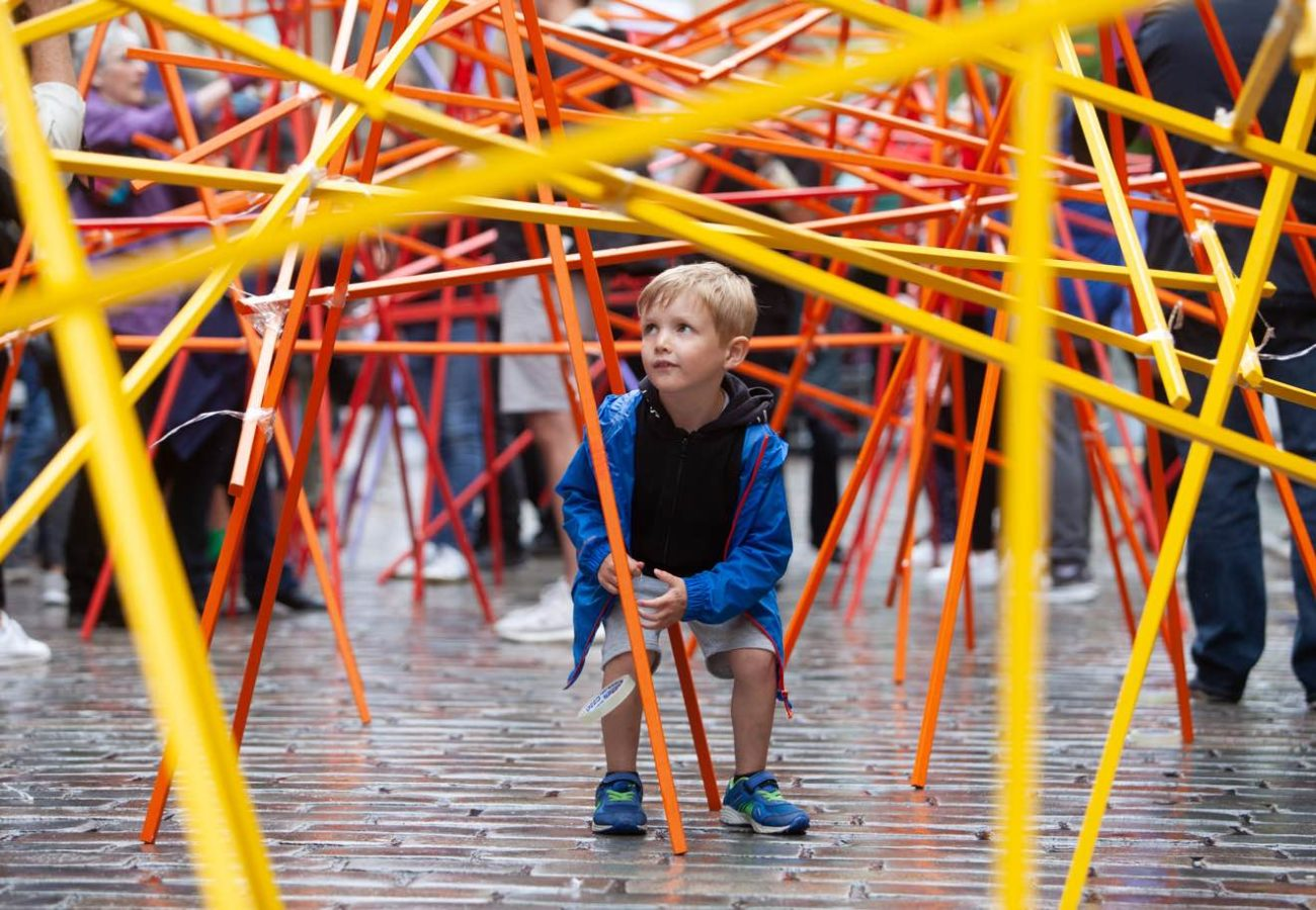 Child playing at Merchant City Festival 2019