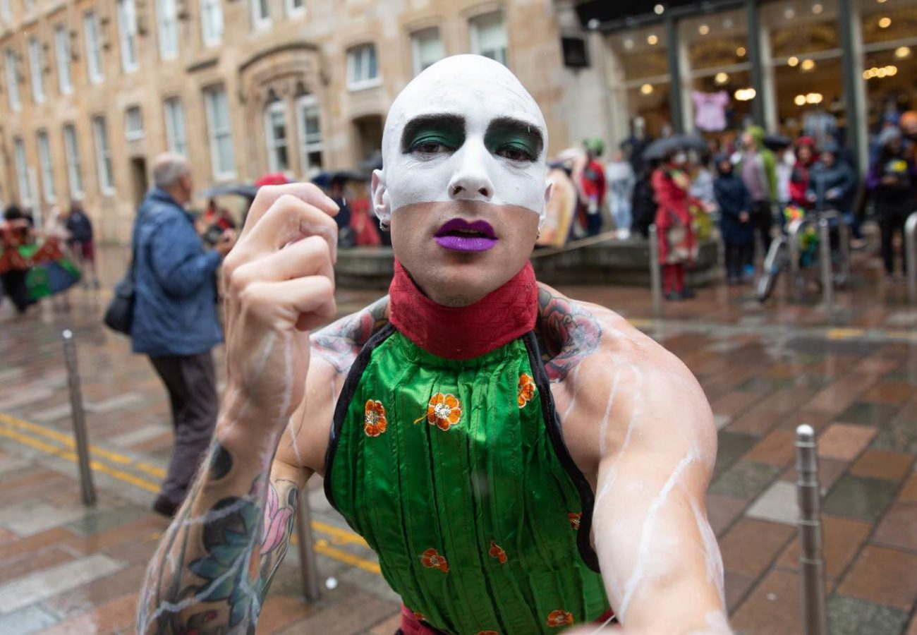 Performer from Merchant City Festival day 3 2019
