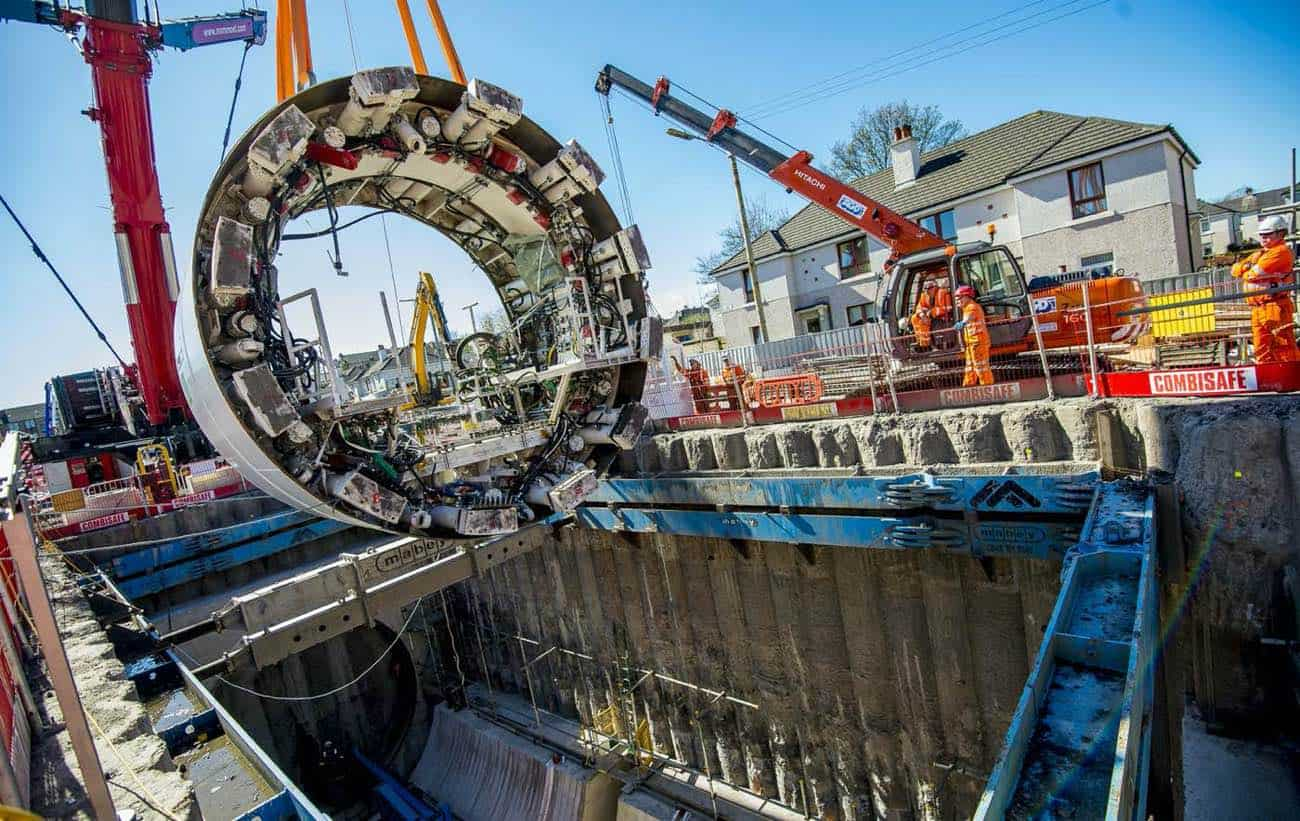 Shieldhall Tunnel Boring Machine at Scottish water